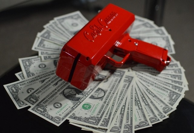 """Make It Rain"" Strip Club Cash Cannon"