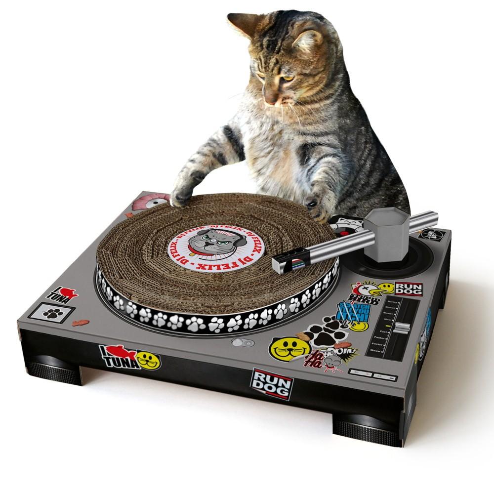 Cat DJ – Record Player Scratching Post
