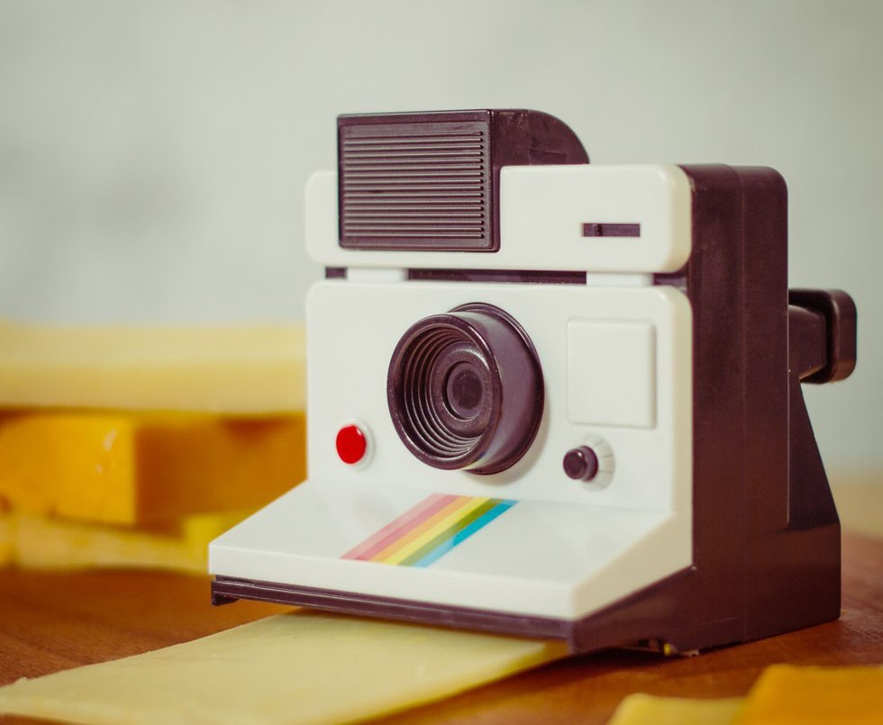 Say Cheese! Polaroid Instant Camera Cheese Cutter