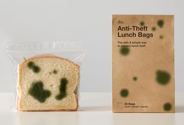 "Theft Deterrent ""Moldy Sandwich Bags"""