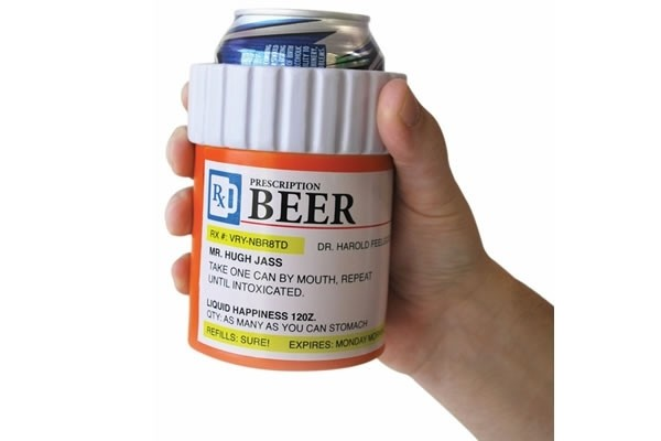 Pill Bottle Koozie