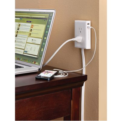 Wall Mounted Outlet Extender.