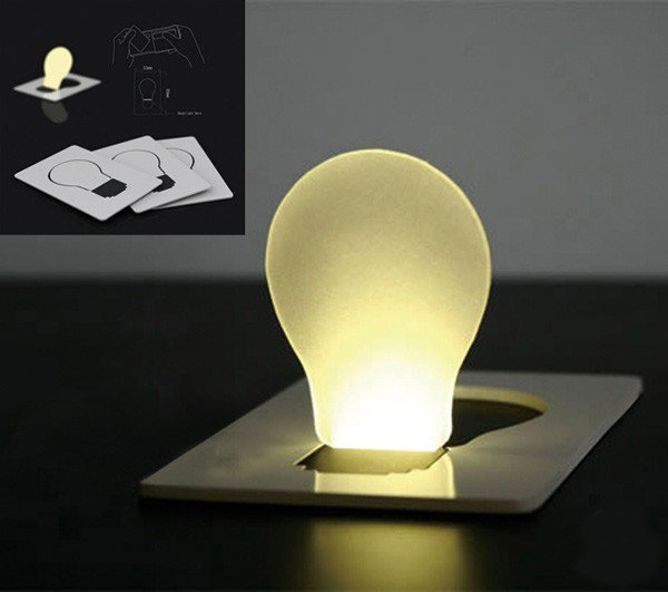 Credit Card Light Bulb For Your Wallet