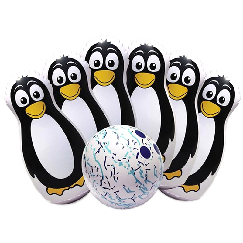 Penguin Pinfest Inflatable Bowling.