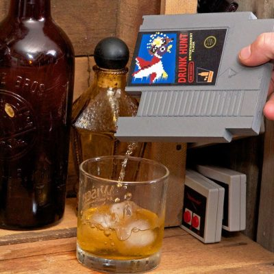 Nintendo NES Game Cartridge Flask