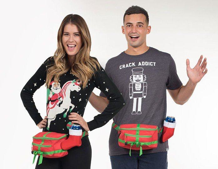 Dick In A Box Fanny Pack with Beer Holder