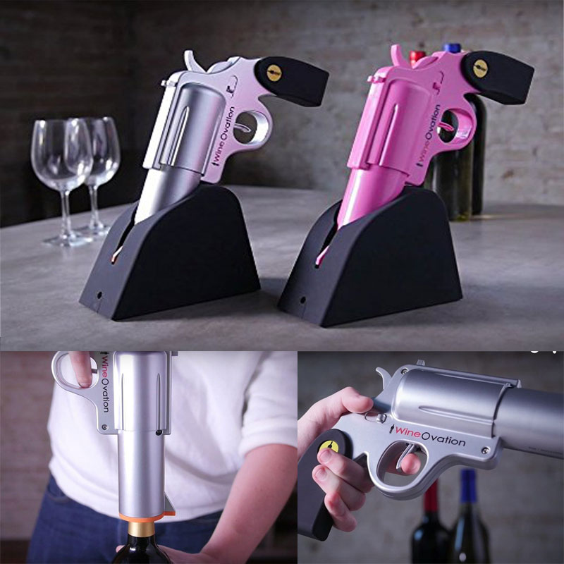 Gun Shaped Electric Wine Opener.