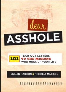 Dear A$$HOLE … A Book With 101 Tearouts For You To Leave That Moron In Your Life