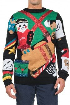 Office Christmas Party Movie Sweaters – Men's Office Christmas Party™ Nondenominational Sweater by Tipsy Elves