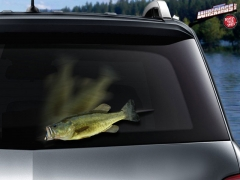 Flopping Largemouth Bass Rear Wiper Blade Attachment
