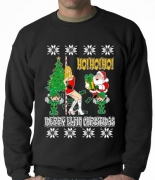 Santa and the Stripper Ugly Christmas Sweater